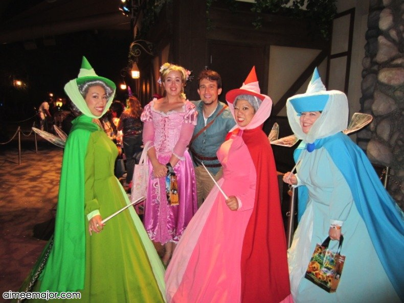 disneyland halloween rapunzel costume flynn costume u0026 the good fairies