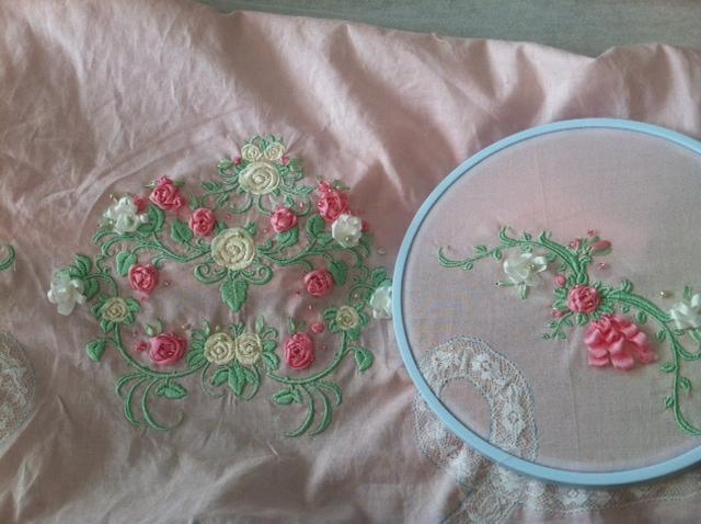 Aimeemajor twin heirloom ribbon embroidery baby