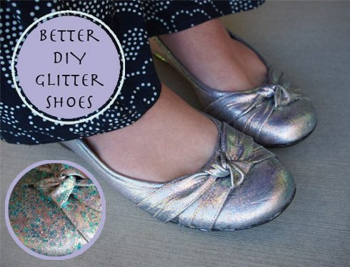 Better Diy Glitter Shoes With Glitter It Aimee Steinberger