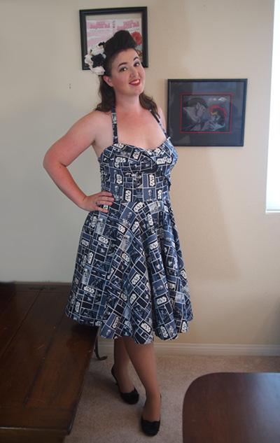 retro star wars butte rick 6019 dress