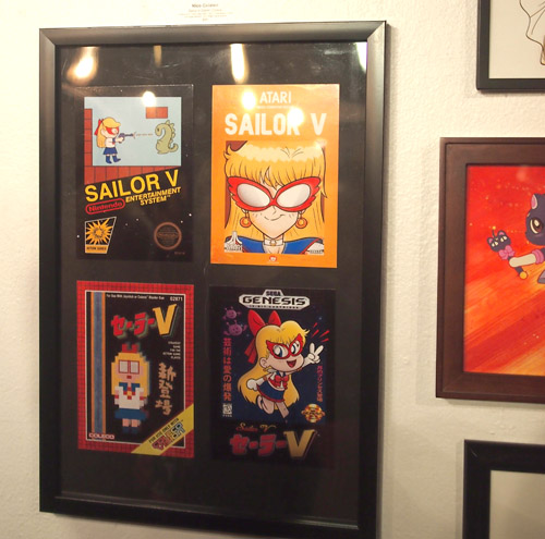 Meatball Head Sailor Moon Art Show at Meltdown Comics