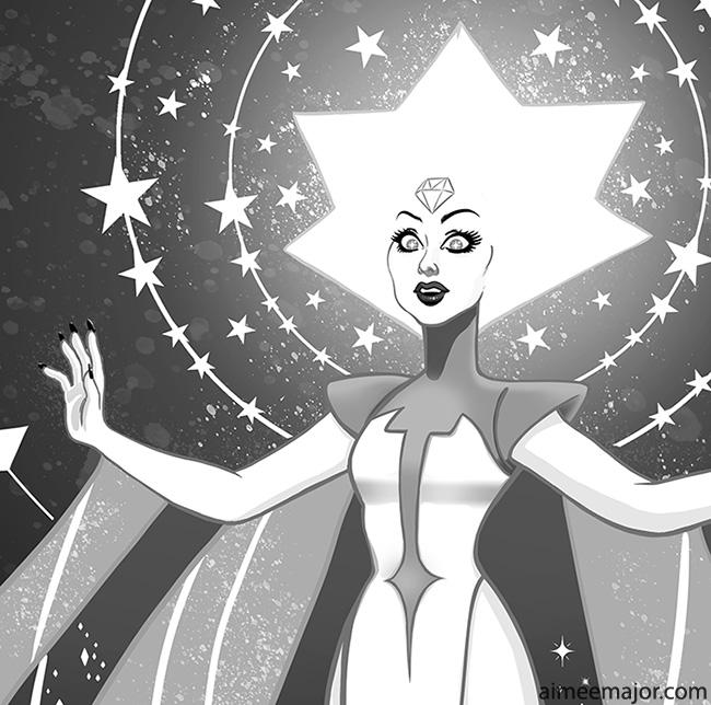New White Diamond Art from Steven Universe